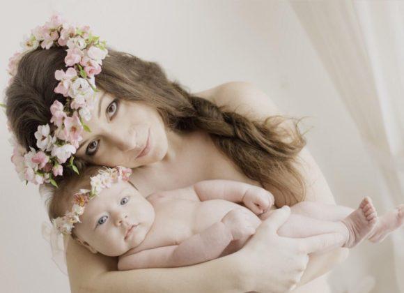 Květinové šperky pro miminka